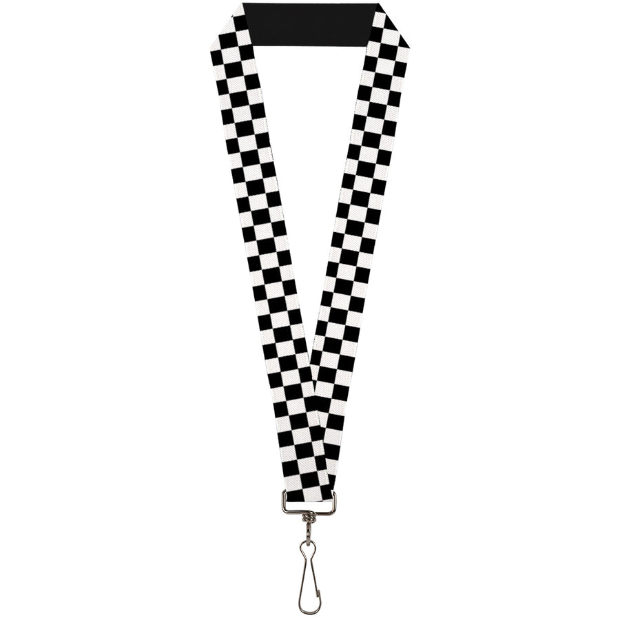 "Lanyard - 1.0"" - Checker Black White"