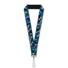 "Lanyard - 1.0"" - Dory Poses Swirls Blues Yellows"
