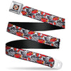 Cars 3 LIGHTNING MCQUEEN 95 Icon Full Color Weathered Black Red White Yellow Seatbelt Belt - Cars 3 Lightning McQueen/Storm Jackson Poses Scattered White Webbing