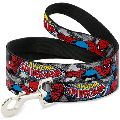 Dog Leash - THE AMAZING SPIDER-MAN Stacked Comic Books/Action Poses