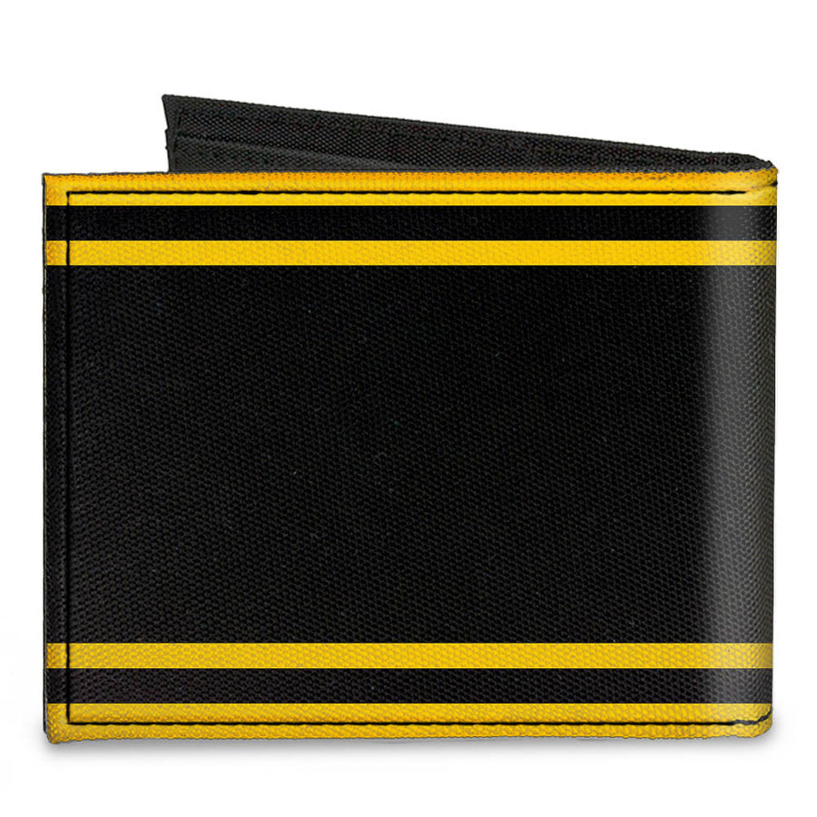 Canvas Bi-Fold Wallet - SUPER BEE Logo Stripes Black Yellow