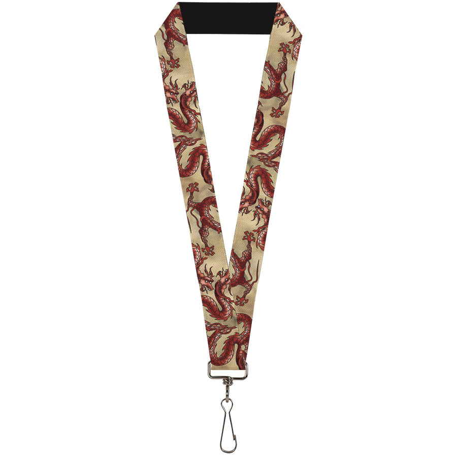 "Lanyard - 1.0"" - Dragons Tan"