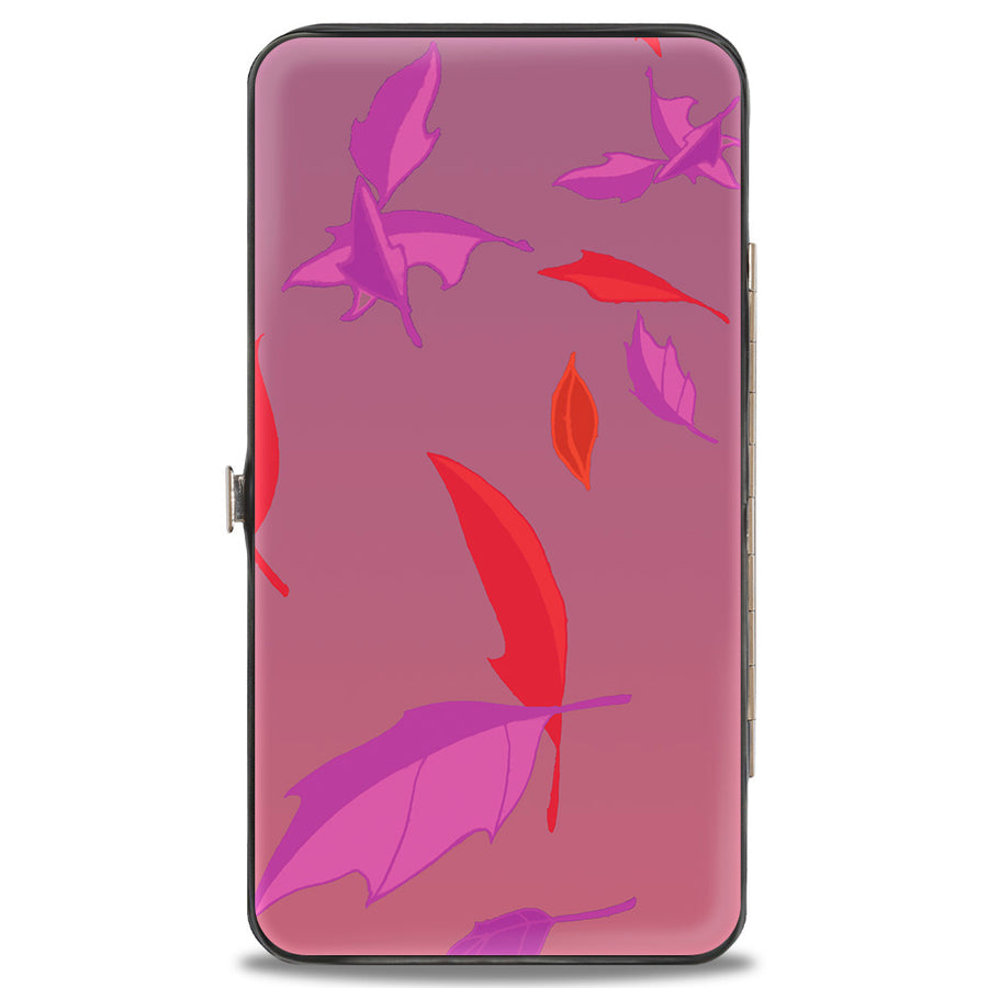 Hinged Wallet - Pocahontas Colors of the Wind Pose Leaves Pinks