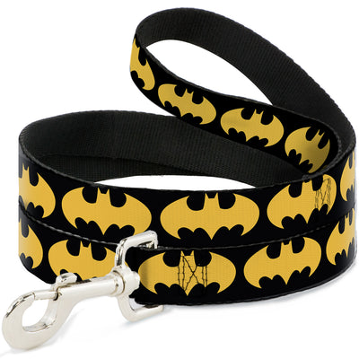 Dog Leash - Bat Signal-1 Black/Yellow