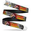 MARVEL COMICS Marvel Comics Logo Full Color Seatbelt Belt - THOR THE MIGHTY Action Pose/MARVEL COMICS Grays/Multi Color Webbing