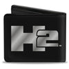 Bi-Fold Wallet - H2 Black Silver Logo CENTERED