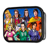 The Big Bang Theory Superhero Characters FCG - Black Rock Star Buckle