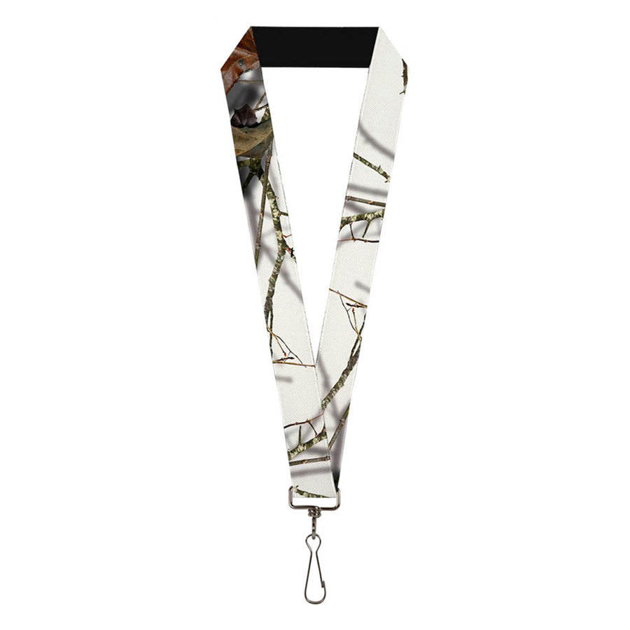 "Lanyard - 1.0"" - Mossy Oak Country Roots Snowdrift Camo White"