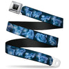 Harry Potter Logo Full Color Black/White Seatbelt Belt - Harry Potter Animal Spirits Black/Blue Webbing