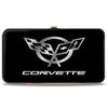 Hinged Wallet - Corvette Black Silver