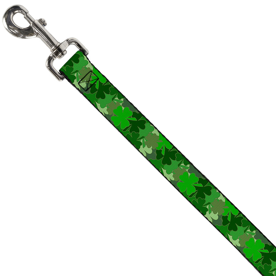 Dog Leash - St. Pat's Stacked Shamrocks Greens