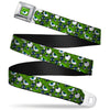 Monsters Eye CLOSE-UP Full Color Seatbelt Belt - Monsters Inc. Eye Collage Weathered Greens/Blues Webbing