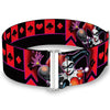 Cinch Waist Belt - HARLEY QUINN Bomb Poses Suits Black Purple Red