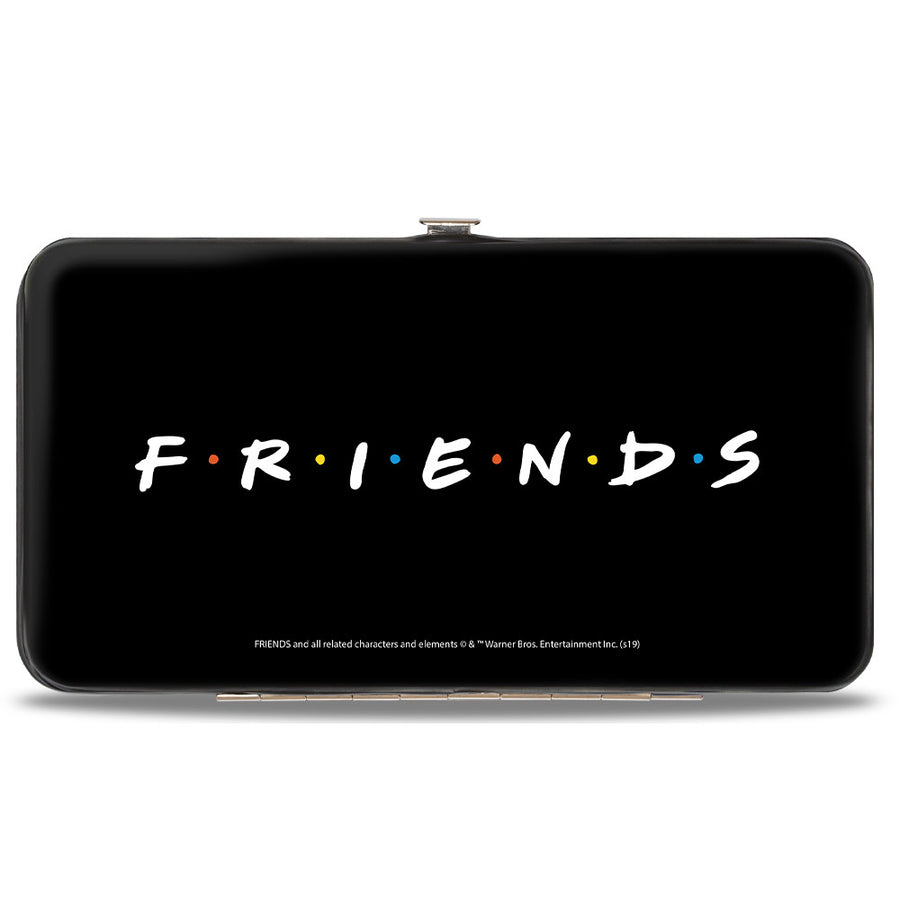 Hinged Wallet - FRIENDS Vivid 6-Character Milk Shake Pose + Logo Black White Multi Color
