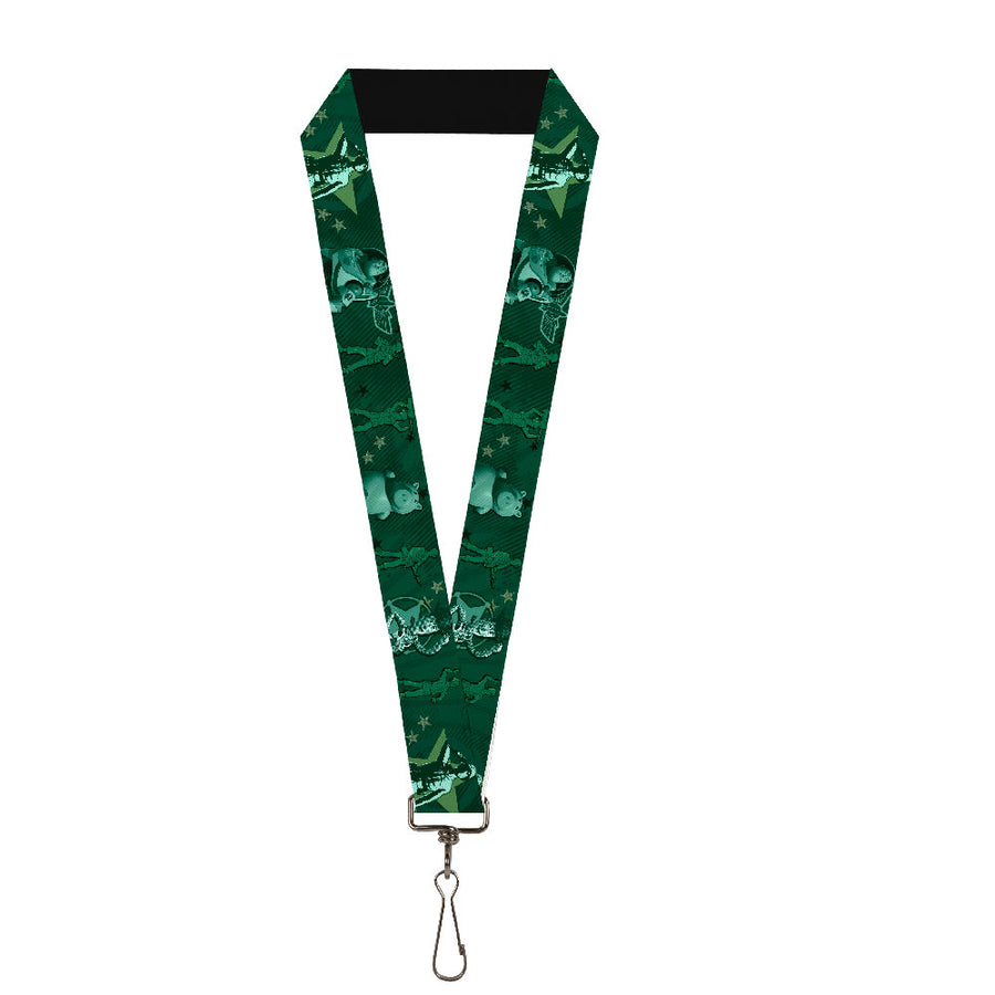 "Lanyard - 1.0"" - Woody & Friends KEEP CALM & REACH FOR THE SKY Blues"