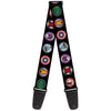 MARVEL AVENGERS Guitar Strap - 9-Avenger Icons Black Multi Color