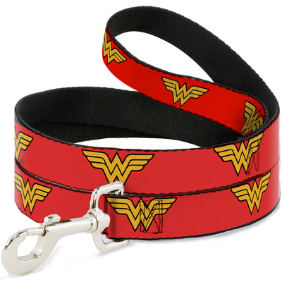 Dog Leash - Wonder Woman Logo Red