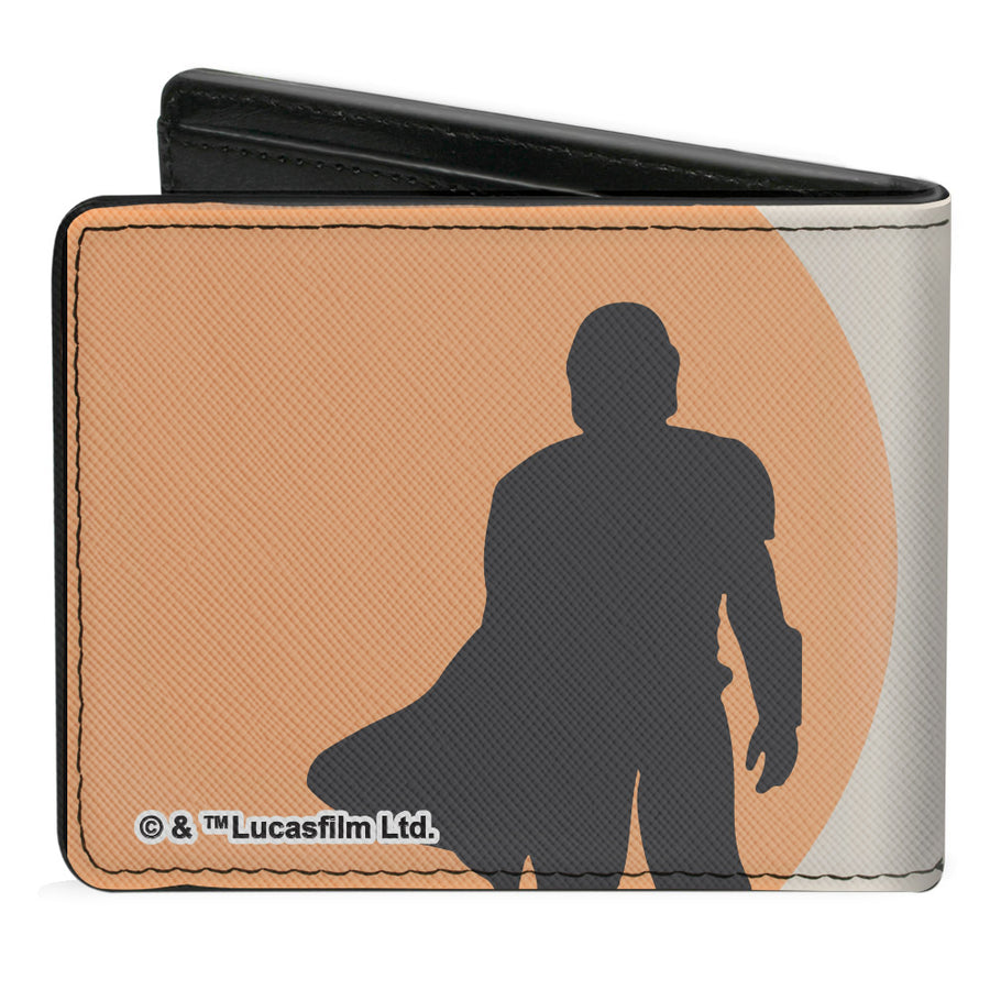 Bi-Fold Wallet - Star Wars The Child Sleeping Pod + The Mandalorian Silhouette Grays Orange