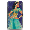 Hinged Wallet - Jasmine 2019 Standing Pose Stars Purple Gold