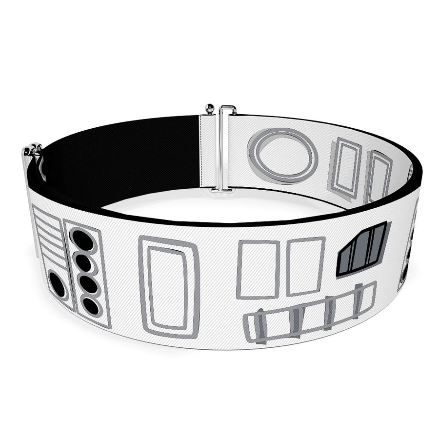 Cinch Waist Belt - Star Wars Stormtroopers Utility Belt Bounding White Black Grays