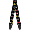 Guitar Strap - Classic Mickey Mouse Pose Black