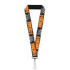 "Lanyard - 1.0"" - HEMI 426 Logo 392 426 Black Orange Silver-Fade"