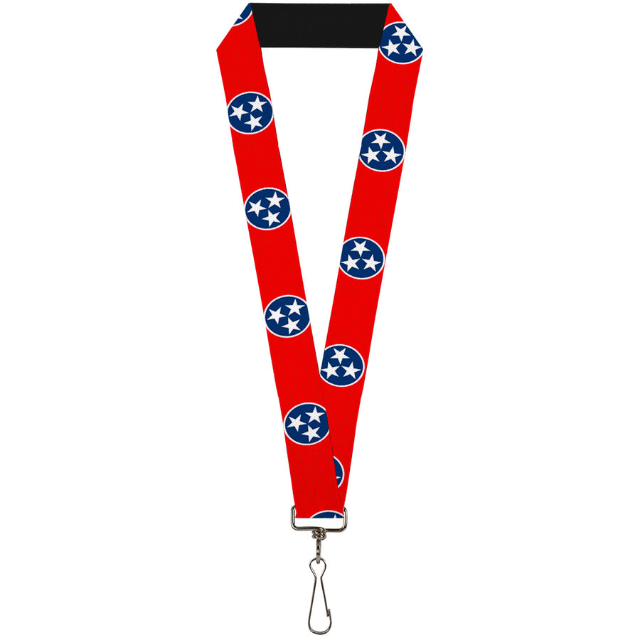 "Lanyard - 1.0"" - Tennessee Flag Stars Red White Blue"