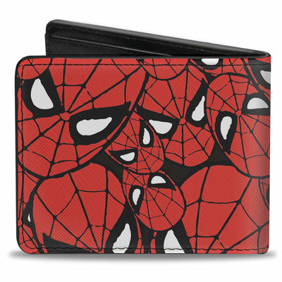 MARVEL COMICS Bi-Fold Wallet - Spider-Man Face Stacked