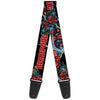 MARVEL DEADPOOL Guitar Strap - DEADPOOL Action Poses Black Red