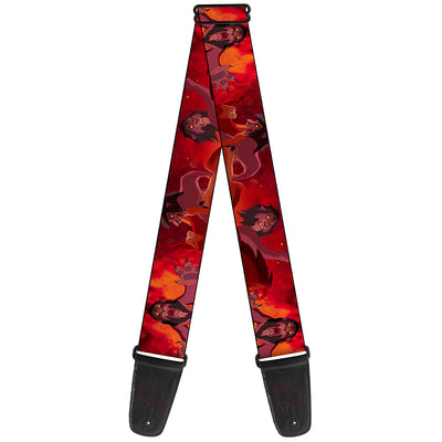 Guitar Strap - Simba Scar Battle Scene Fiery Red