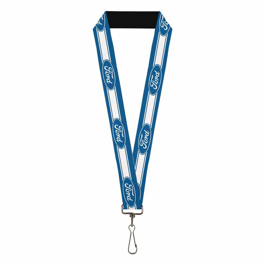 "Lanyard - 1.0"" - Ford Oval 5-Stripe Blue White"