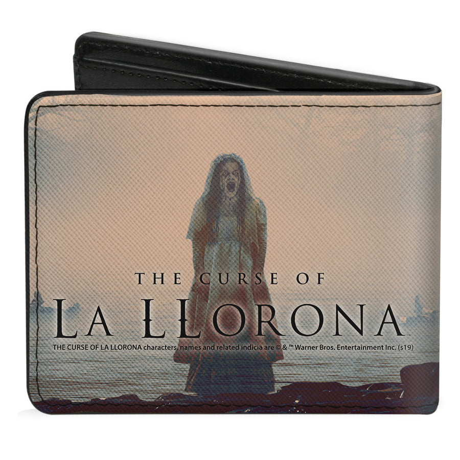 Bi-Fold Wallet - The Curse of La Llorona River Pose with Children + Screaming Pose Logo