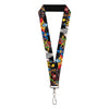 "MARVEL X-MEN Lanyard - 1.0"" - X-Men 7-Character Action Poses"