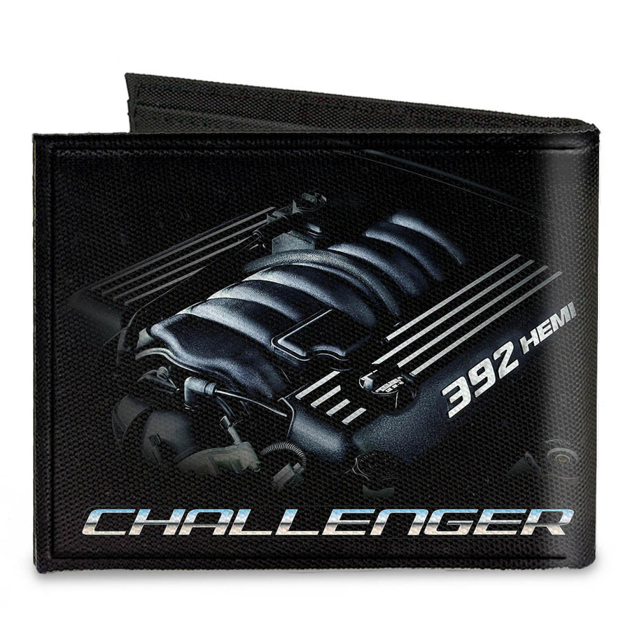 Canvas Bi-Fold Wallet - CHALLENGER Bold 392 HEMI Engine