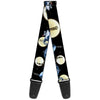 Guitar Strap - Nightmare Before Christmas Jack & Sally Moon Scenes