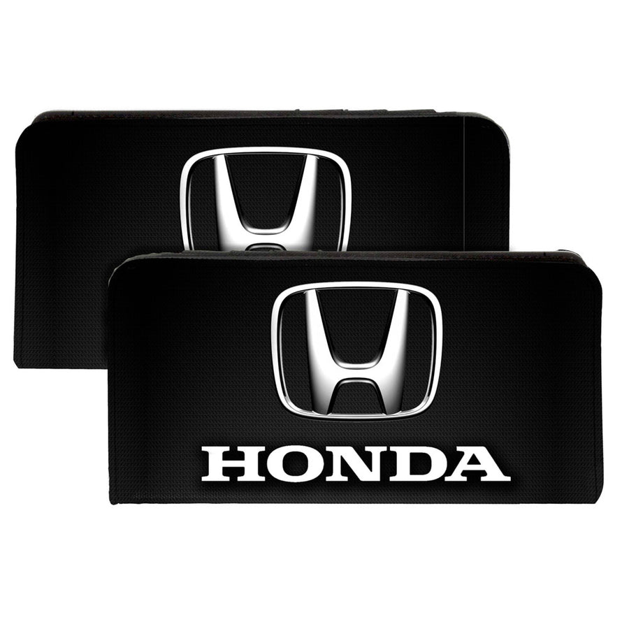 Canvas Snap Wallet - Honda 3-D Logo Black Silver White