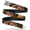 Snow White Full Color Black Seatbelt Belt - Snow White & the Seven Dwarfs Scenes Webbing
