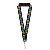 "Lanyard - 1.0"" - Dancing Bears Black Multi Color"