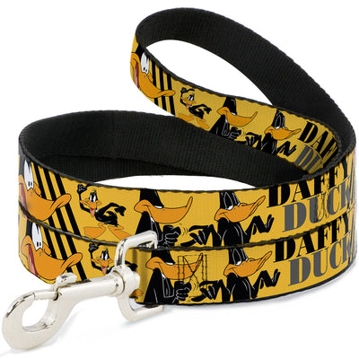 Dog Leash - DAFFY DUCK w/Poses Yellow/Black