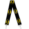 Purse Strap - Batman Shield Black Yellow