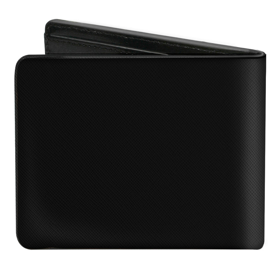 Bi-Fold Wallet - Corvette C2 Flags Logo Black