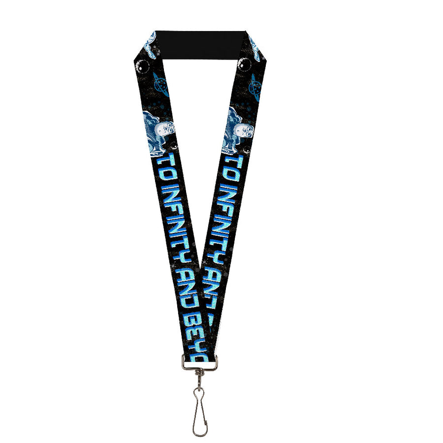"Lanyard - 1.0"" - Buzz Poses Stars TO INFINITY AND BEYOND Black Blues"