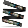 Black Buckle Web Belt - SUPERNATURAL-JOIN THE HUNT/Winchester Brothers Clouds Webbing