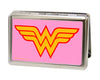 Business Card Holder - LARGE - Wonder Woman Logo FCG Pink