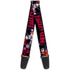Guitar Strap - HARLEY QUINN Bomb Poses Suits Black Purple Red