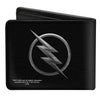 Bi-Fold Wallet - Reverse Flash Logo Black Silver Etching
