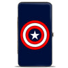 MARVEL COMICS Hinged Wallet - Captain America Shield Navy Red White
