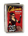 Business Card Holder - LARGE - CATWOMAN-CRACK OF A WHIP Bombshell Pose FCG Reds
