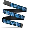 Black Buckle Web Belt - Harry Potter Animal Spirits Black/Blue Webbing