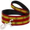 Dog Leash - Doctor Strange Eye of Agamotto Stripe Red/Gold/Black